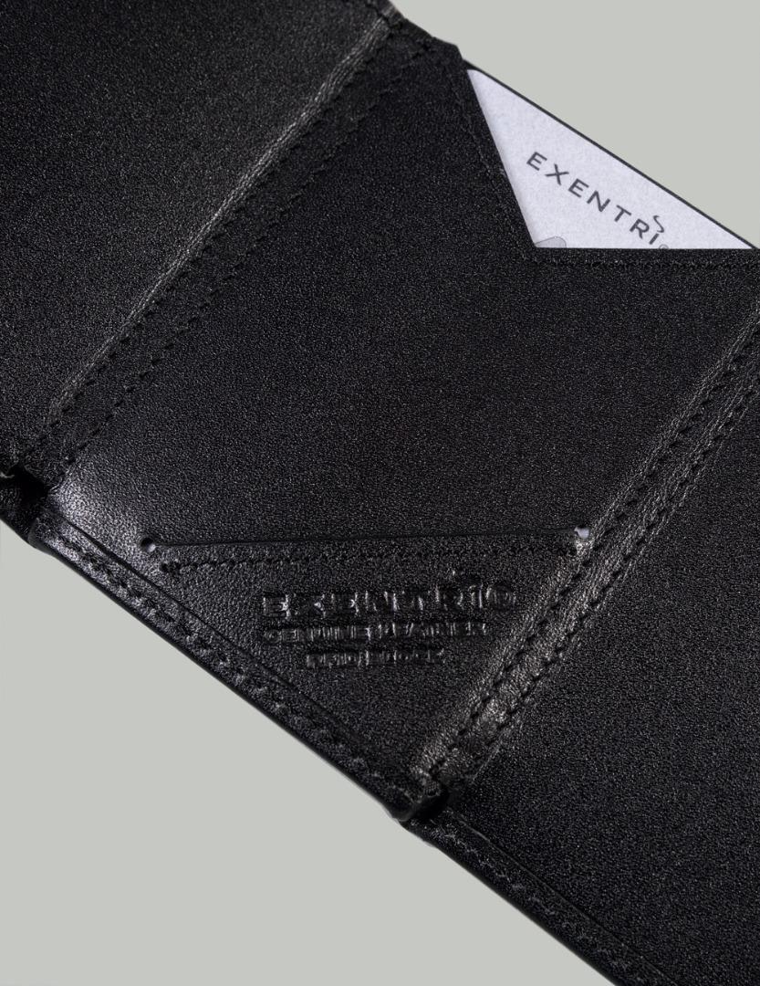 Exentri Wallet BLACK mit RFID-Schutz 3