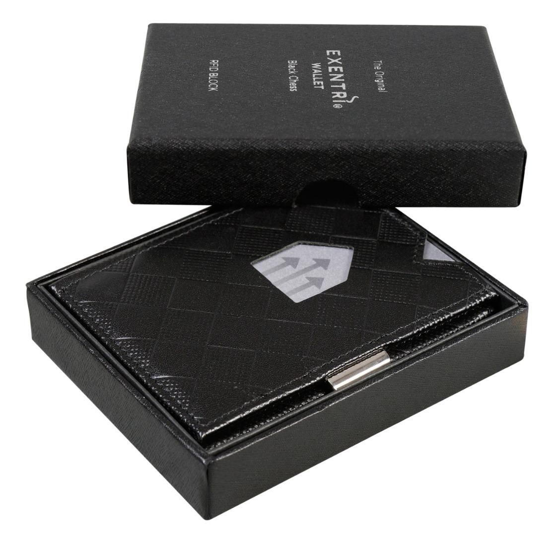 Exentri Wallet BLACK CHESS mit RFID-Schutz verfuegbar ab August
