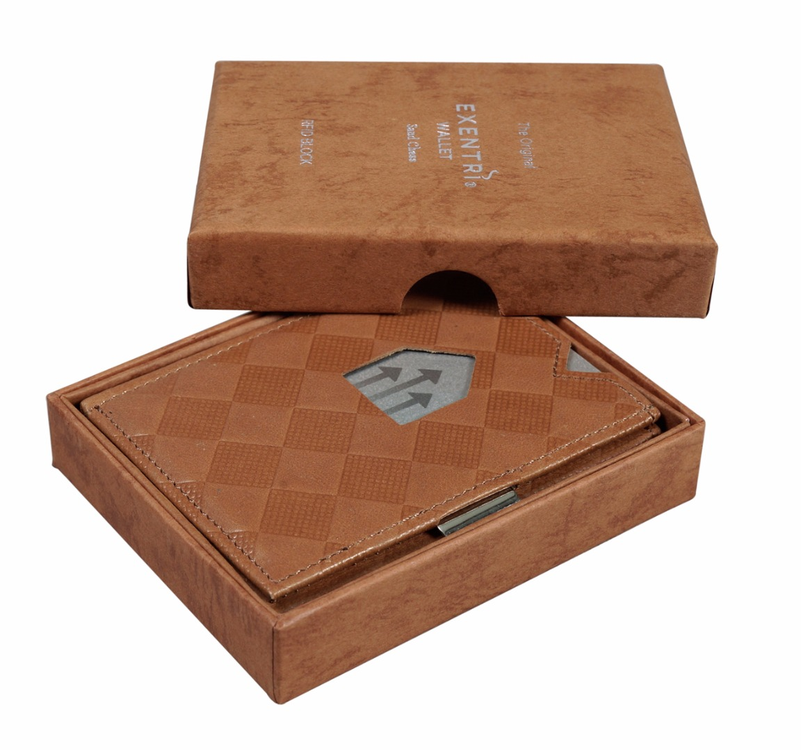 Exentri Wallet SAND CHESS mit RFID-Schutz