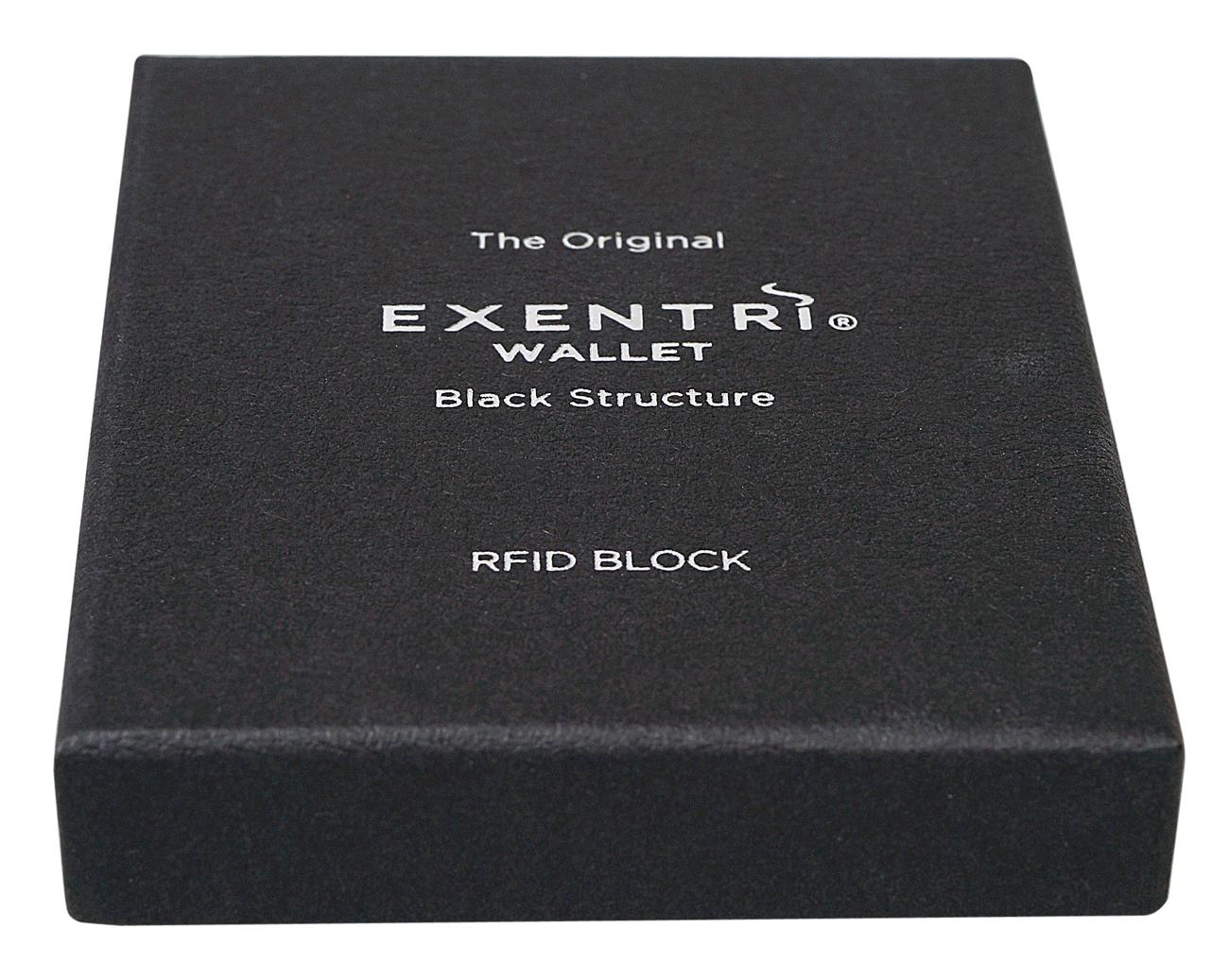 Exentri Wallet BLACK STRUCTURE mit RFID-Schutz
