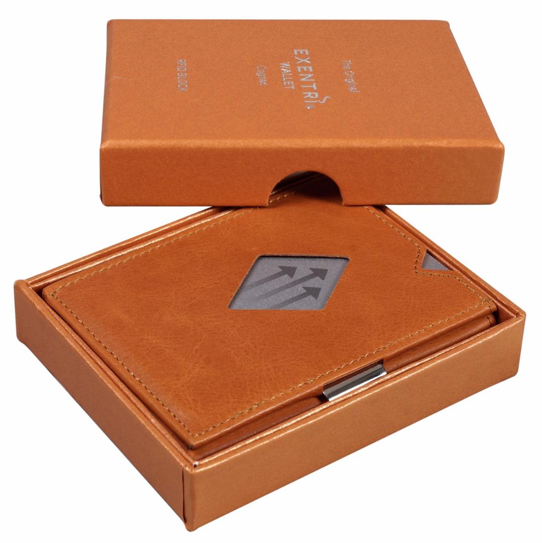 Exentri Wallet COGNAC mit RFID-Schutz 2