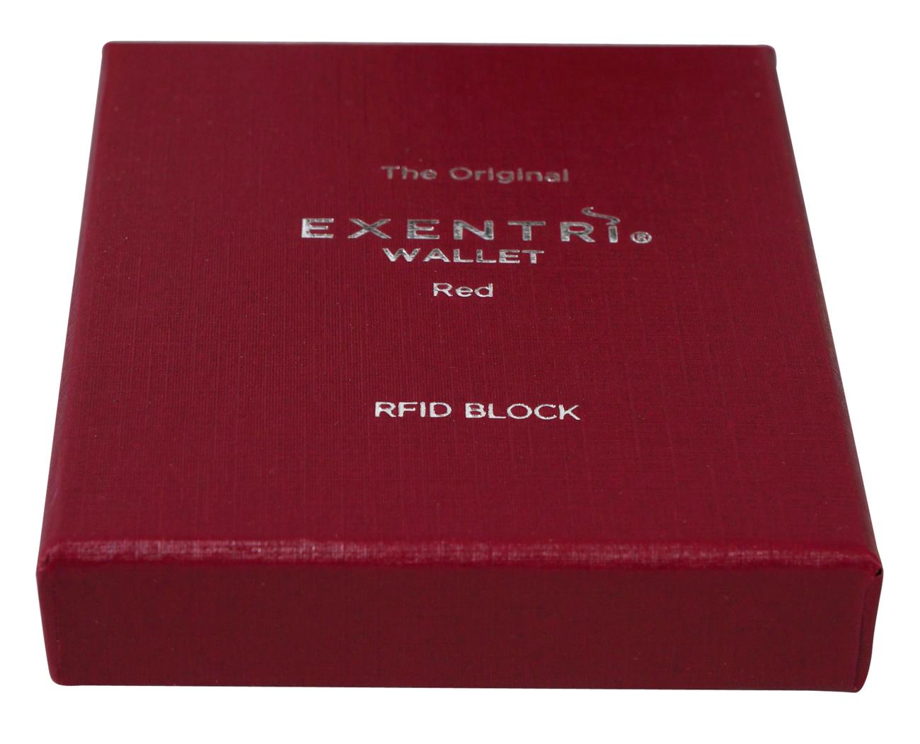 Exentri Wallet RED mit RFID-Schutz 2