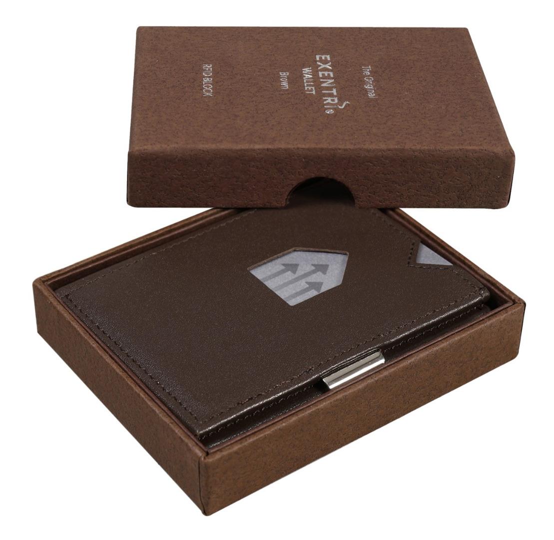 Exentri Wallet BROWN mit RFID-Schutz 2