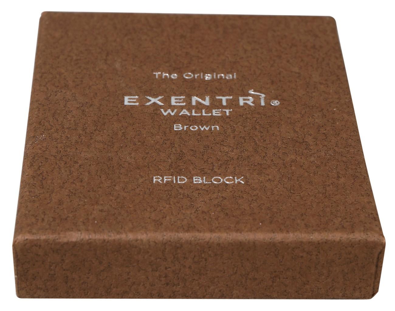 Exentri Wallet BROWN mit RFID-Schutz 4