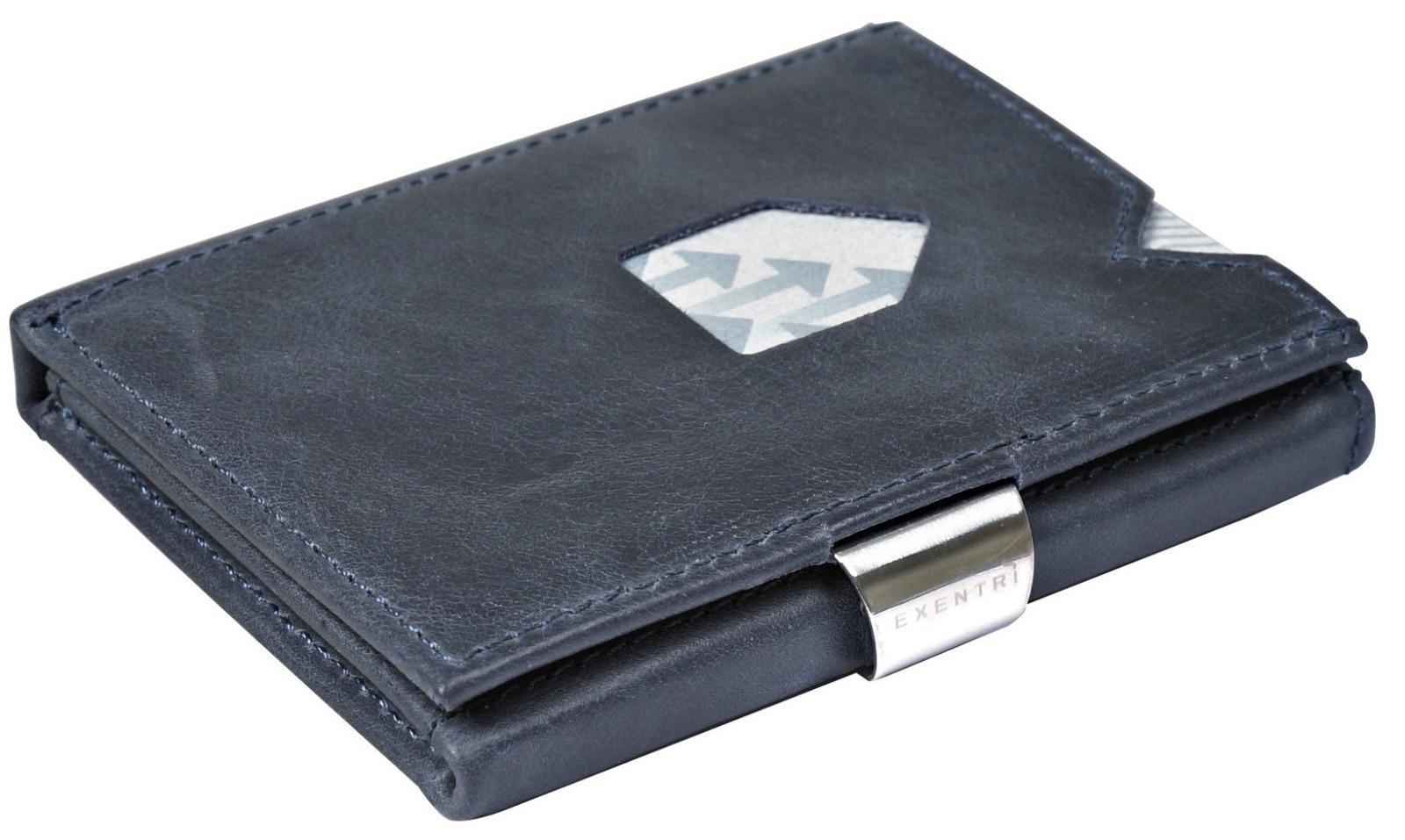 Exentri Wallet BLUE mit RFID-Schutz