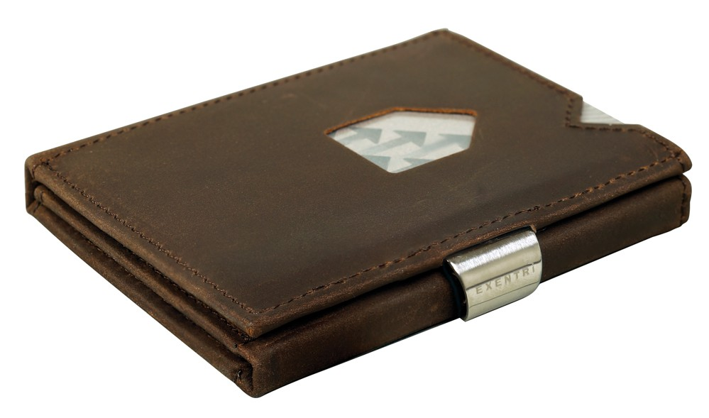 Exentri Wallet NUBUCK BROWN mit RFID-Schutz - 1