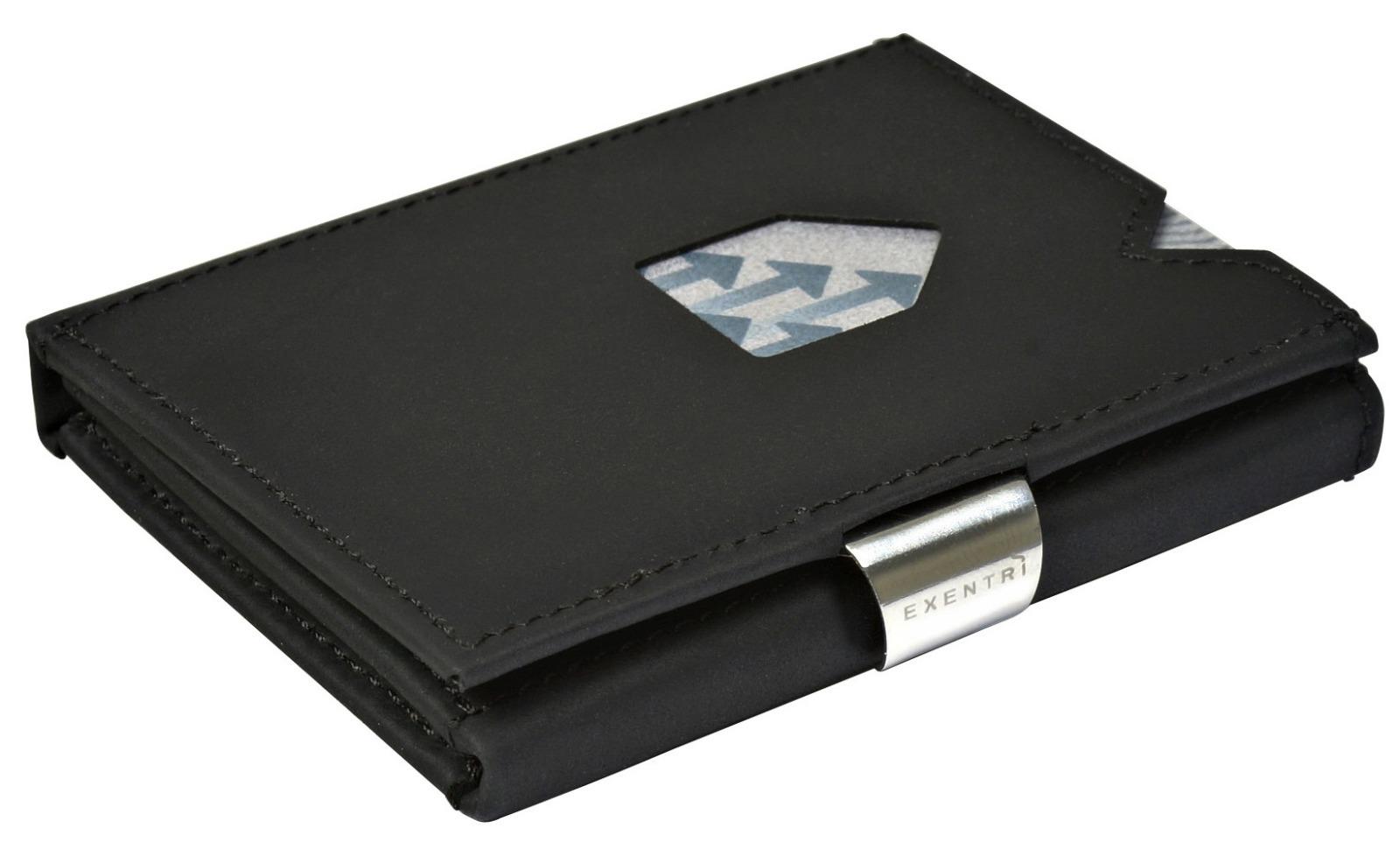 Exentri Wallet NUBUCK BLACK mit RFID-Schutz