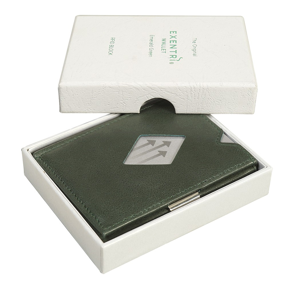 Exentri Wallet Emerald Green Mit RFID - 1