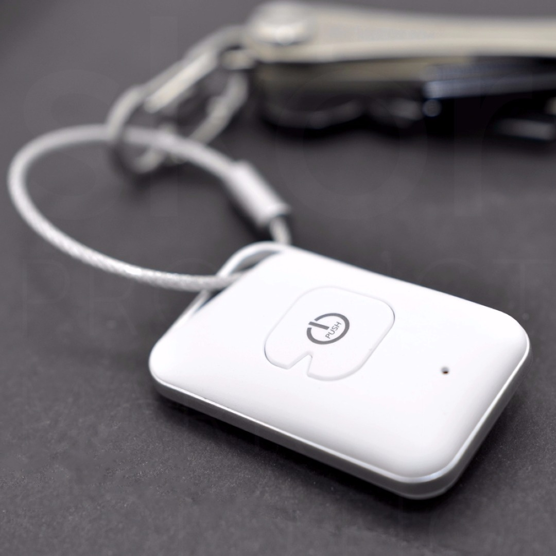 Bluetooth-Finder Selfmate - Smartphone-/Schluesselfinder Selfie-Fernausloeser - Weiss