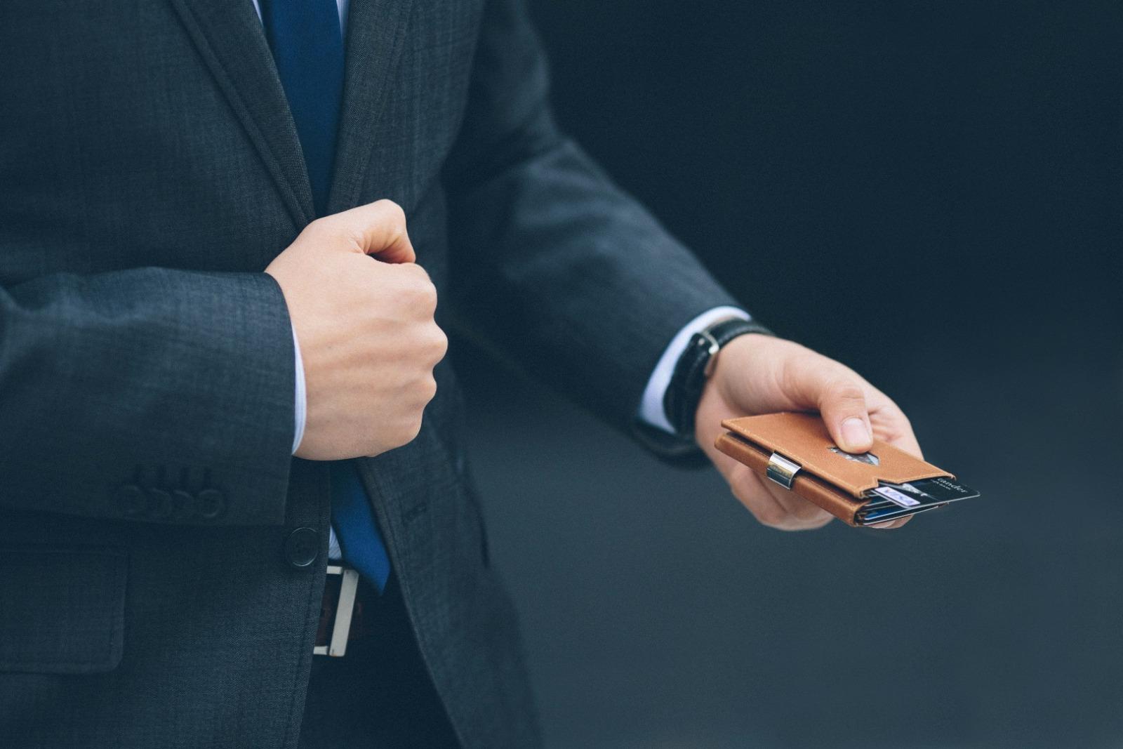 Exentri Wallet NUBUCK BLACK mit RFID-Schutz - 7