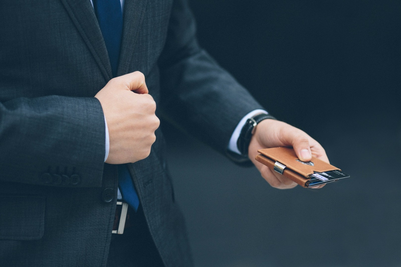 Exentri Wallet BLUE mit RFID-Schutz 7
