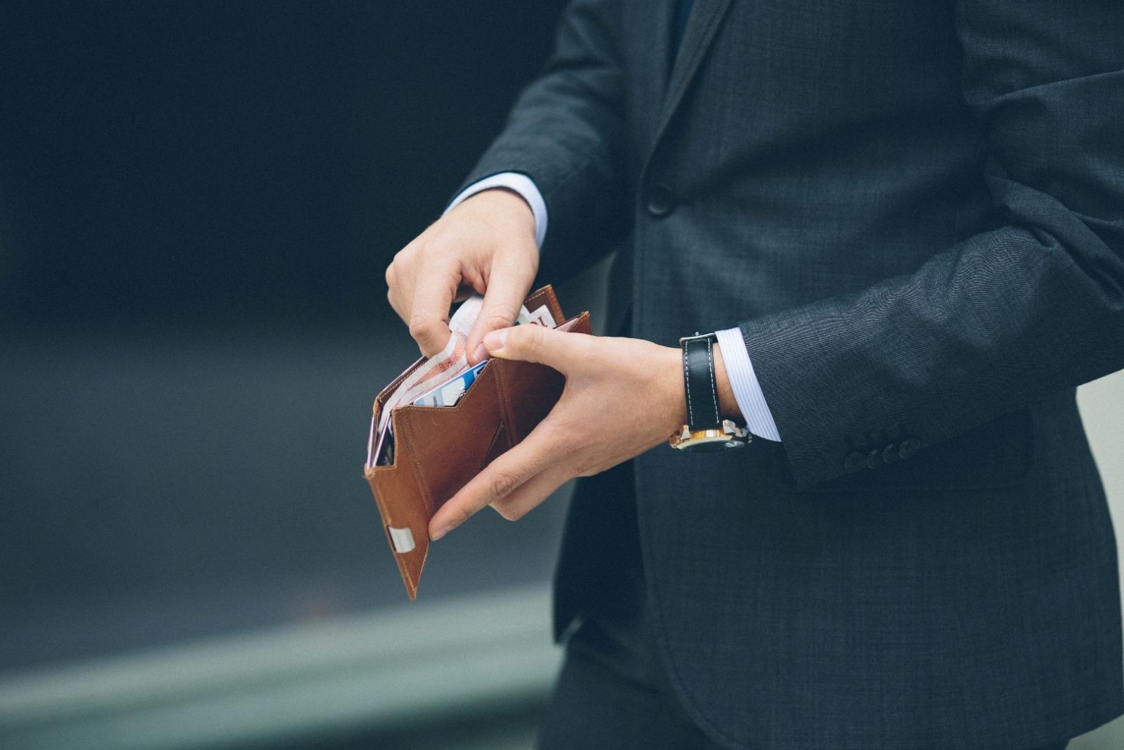 Exentri Wallet BLUE mit RFID-Schutz 9