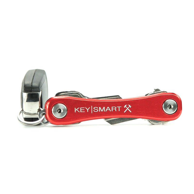 KeySmart Rugged in Rot