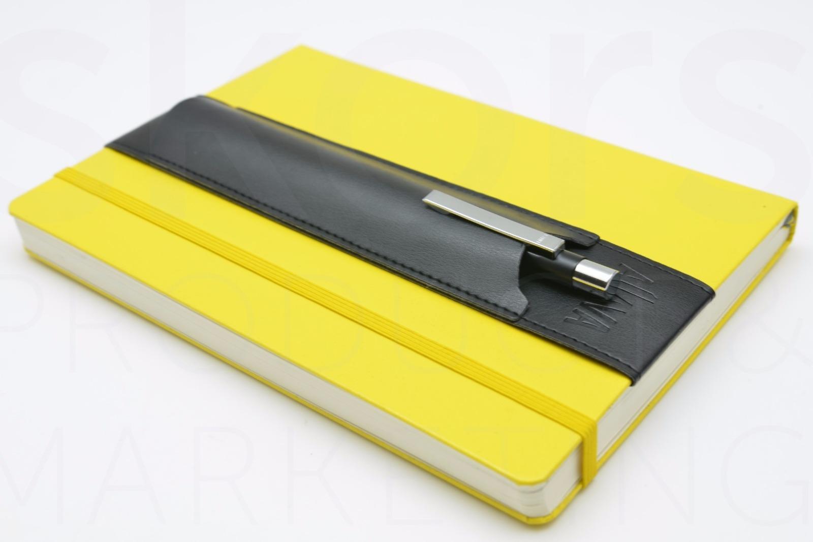 KeySmart Aljava A5-Stiftehalter in Kunstleder Farbe: Schwarz mit schwarzer Naht - 4