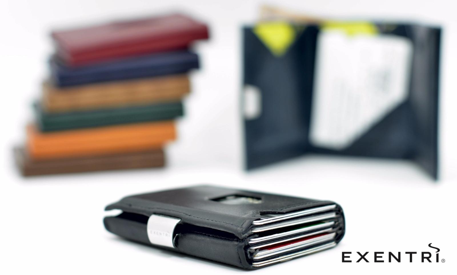 Exentri Wallet NUBUCK BLACK mit RFID-Schutz - 4
