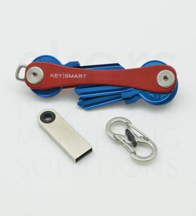 KeySmart-Paket Basic - 1x KeySmart 2.1 nach Wahl  1x USB-Stick 16 GB Silber  1x Quick Connect Lock Silber
