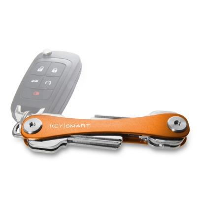 KeySmart Orange 2.1 inkl. Anhängeröse - KeySmart 2.1 mit der längeren Schraube für mehr Schlüssel. Das Original aus Chicago USA.