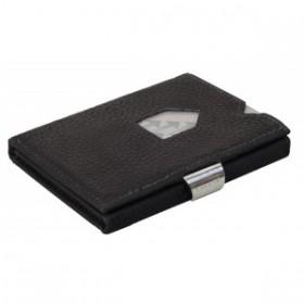Exentri Wallet - Black Structure - Ohne RFID Schutz - Endlich eine innovative und wohl die kleinste Brieftasche der Welt die Brieftasche und Kreditkartenetui vereint. Geldscheine muessen nicht gefaltet werden Und ueber 12 Karten passen in sechs Faecher.