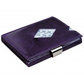 Exentri Wallet - Purple Haze - Ohne RFID Schutz - Die smarte Mini - Geldboerse von Exentri in Lila erlaubt Ihnen Geldscheine und Karten muehelos und sehr uebersichtlich zu verwalten. Kein gefalte mehr von Geldscheinen. Auslaufmodell - Ohne RFID Schutz.