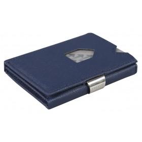 Exentri Wallet - Saffiano Blue - Ohne RFID Schutz - Saffiano Leder kombiniert mit dem Exentri Wallet ergibt ein sehr stylisches Micro Wallet. Das Original von Exentri Wallet aus Norwegen.