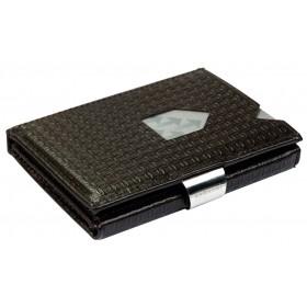 Exentri Wallet - Circles Dark Brown - Ohne RFID Schutz - Das innovative Portemonnaie, das Kreditkartentasche und Moneyclip vereint.