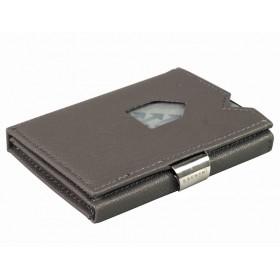 Exentri Wallet - Saffiano Grey - Ohne RFID Schutz - Die smarte Mini - Geldboerse von Exentri in Saffino Grau erlaubt Ihnen Geldscheine und Karten muehelos und sehr uebersichtlich zu verwalten. Kein gefalte mehr von Geldscheinen. Auslaufmodell - Ohne RFID Schutz.