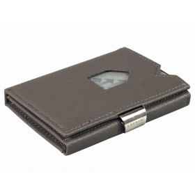 Exentri Wallet - Saffiano Grey - Ohne RFID Schutz - Die smarte Mini - Geldbörse von Exentri in Saffino Grau, erlaubt Ihnen Geldscheine und Karten mühelos und sehr übersichtlich zu verwalten. Kein gefalte mehr von Geldscheinen. Auslaufmodell - Ohne RFID Schutz.