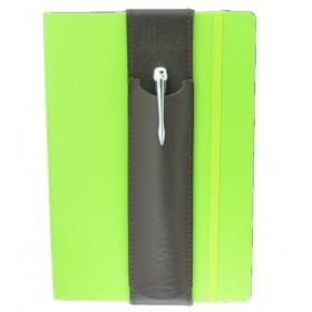 ALjAVA Louis Rindspaltleder: Braun, Naht: Braun - Mit dem ALjAVA Louis sind die Stifte an deinem A5-Notizbuch immer griffbereit