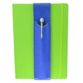 ALjAVA Louis Rindspaltleder Blau Naht Blau - Mit dem ALjAVA Louis sind die Stifte an deinem A5-Notizbuch immer griffbereit