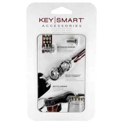 Accessoire-Kit - Zubehör-Set passend für den KeySmart und KeyStax - beinhaltet Schrauben aus der EW1, Quick Connect Lock Silber und Flaschenöffner