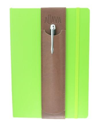 ALjAVA Louis Kunstleder: Braun, Naht: Braun - Mit dem ALjAVA Louis sind die Stifte an deinem A5-Notizbuch immer griffbereit