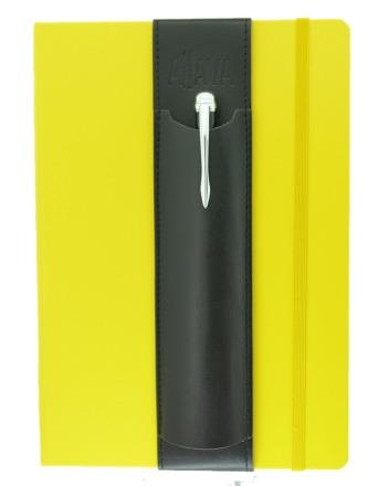 ALjAVA Louis Kunstleder: Schwarz, Naht: Schwarz - Mit dem ALjAVA Louis sind die Stifte an deinem A5-Notizbuch immer griffbereit