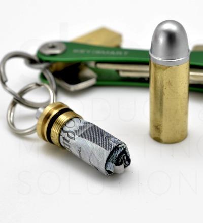 Bullet Stash Last Shot - Geldscheinkapsel für den Schlüsselbund