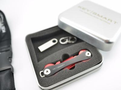 KeySmart-Geschenkdose - Die Geschenkdose OHNE INHALT für den KeySmart inkl. Inlay. Pass genau für einen KeySmart mit einer Aussparung für KeySmart Zubehör