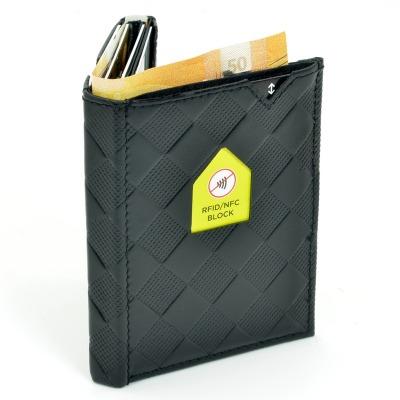 Exentri Wallet BLACK CHESS mit RFID-Schutz - Diese smarte Mini-Geldbörse erlaubt Ihnen Geldscheine und Karten mühelos und sehr übersichtlich zu verwalten. Kein gefalte mehr von Geldscheinen und ganz Neu mit RFID Schutz.