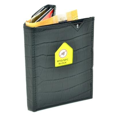 Exentri Wallet CAIMAN BLACK mit RFID-Schutz - Mit dem smarten Exentri Wallet Geldscheine und Karten einfach verwalten.