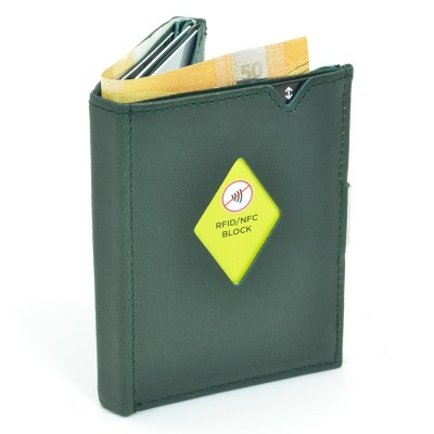 Exentri Wallet Emerald Green Mit RFID
