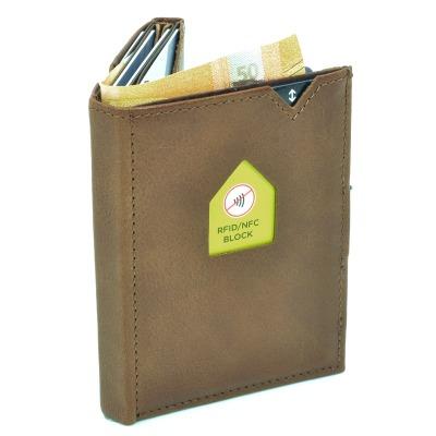 Exentri Wallet HAZELNUT mit RFID-Schutz - Mit dem Micro Wallet von Exentri in der Farbe Hazelnut machen Sie nichts falsch. Einfach und stylish Geld und Karten verwalten. NEU jetzt auch mit RFID Schutz.