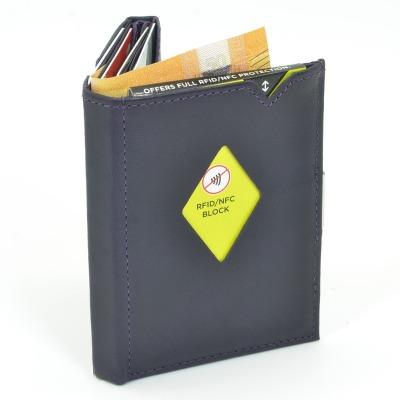 Exentri Wallet PURPLE HAZE mit RFID-Schutz - Diese smarte Mini-Geldboerse erlaubt Ihnen Geldscheine und Karten muehelos und sehr uebersichtlich zu verwalten. Kein gefalte mehr von Geldscheinen und ganz Neu mit RFID Schutz.