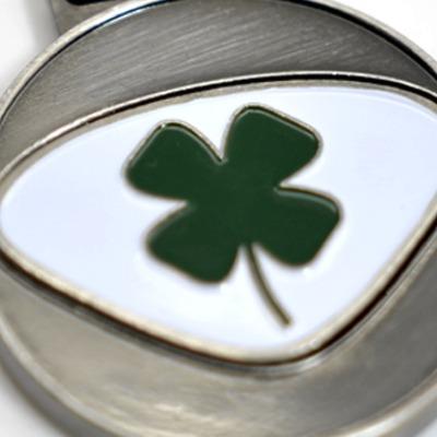 Personalisierbarer Schlüsselanhänger Lucky Initialien AA bis