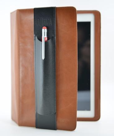 ALjAVA Ben in Rindspaltleder Farbe: Schwarz, Naht: Schwarz - Mit dem ALjAVA Ben sind die Stifte an deinem Tablet immer griffbereit