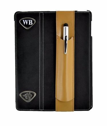 ALjAVA Ben in Rindspaltleder Farbe Tabakbraun Naht Braun - Mit dem ALjAVA Ben sind die Stifte an deinem Tablet immer griffbereit