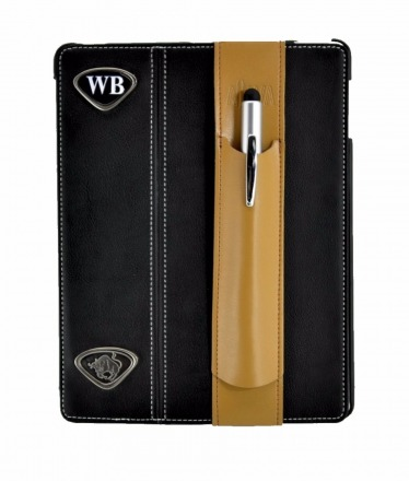 ALjAVA Ben in Rindspaltleder Farbe: Tabakbraun, Naht: Braun - Mit dem ALjAVA Ben sind die Stifte an deinem Tablet immer griffbereit