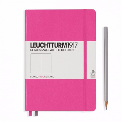 LEUCHTTURM1917-Notizbuch Farbe: New Pink - Notizbuch Medium A5 , 249 nummerierte Seiten, 80g/qm Papier, gepunktet