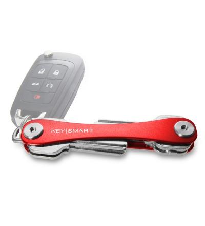KeySmart Rot 2.1 inkl. Anhängeröse - Der KeySmart 2.1 in rot, kann in der Basis variante mehr Schlüssel aufnehmen. Das Original der KeySmart aus Chicago