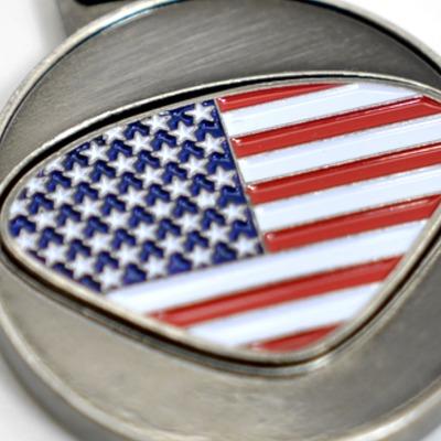 Personalisierbarer Schlüsselanhänger USA Initialien AA bis