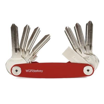 WunderKey in rot fuer bis zu 8 Schluessel - Eine tolle Alternative zum KeySmart - Der Wunderkey Made in Germany bietet hoechste Qualitaet und ein neues Design - bis zu 8 Schluessel