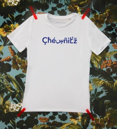 The Original Chemnitz Shirt - Weisses T-Shirt mit blauem Chemnitz Schriftzug