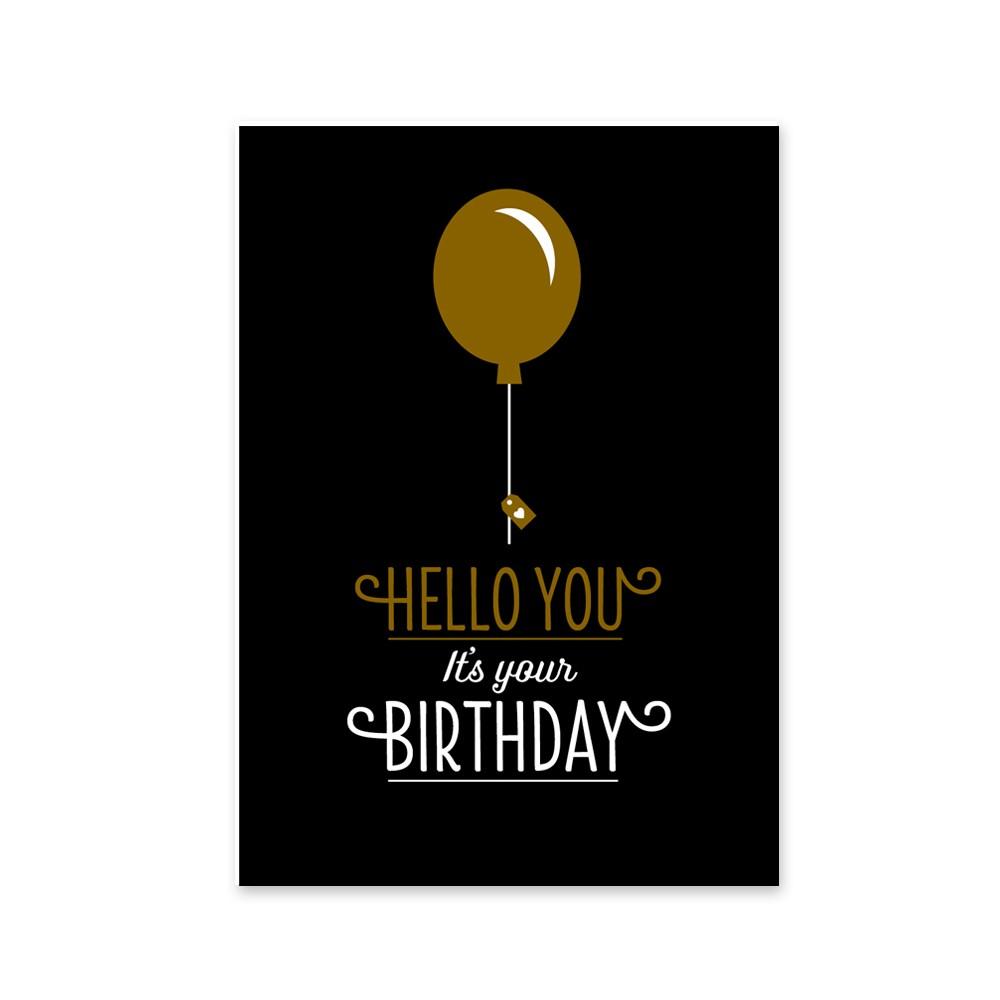 Klappkarte Hello You its your birthday