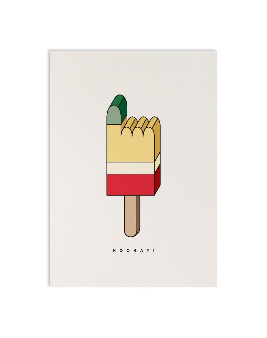Postkarte geometric pointer